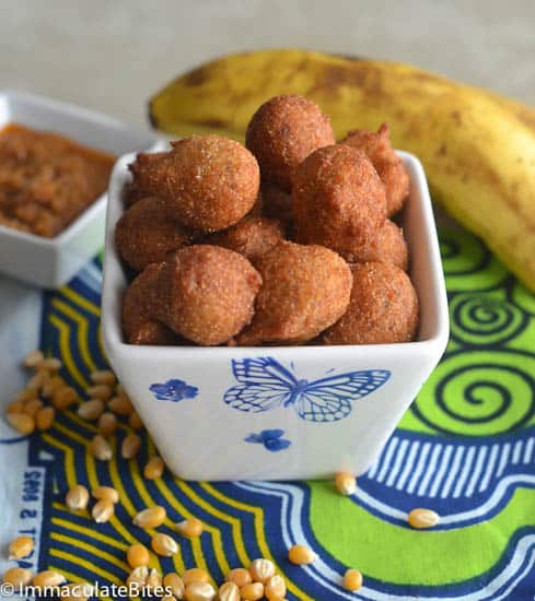 Accra Banana(Deep Fried Corn Fritters)