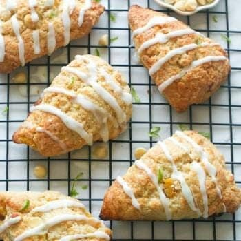 Pineapple and White Chocolate Scones