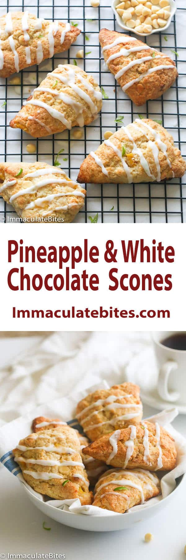 Pineapple White Chocolate Scones