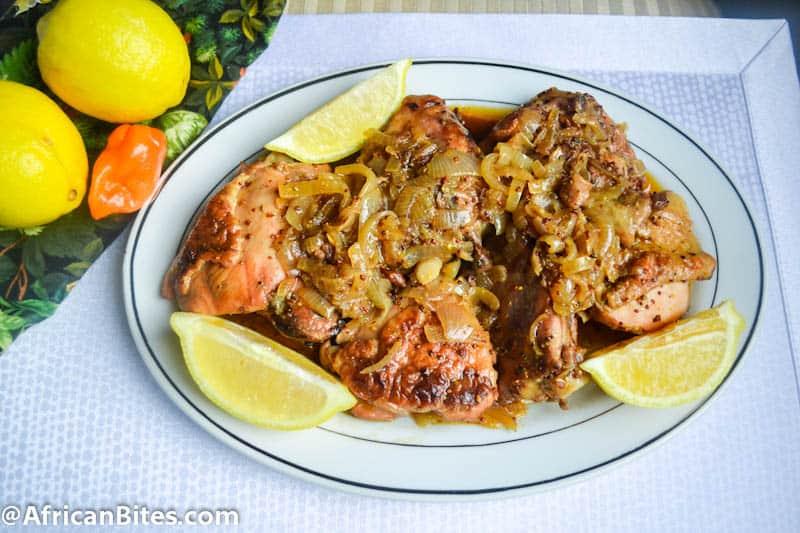 Yassa Chicken (Poulet au Yassa) - Immaculate Bites