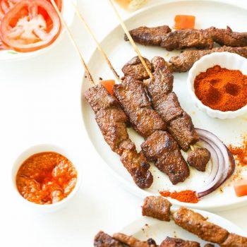 Suya (Spicy grilled kebab)