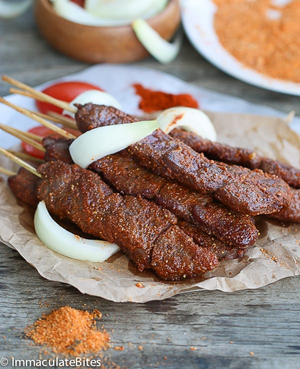 suya(spicy grilled kebab)