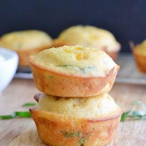 Cornbread Muffins Stacked