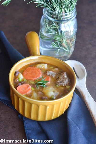 Oxtail bean potato stew