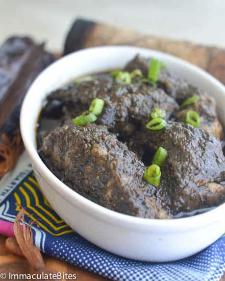 Mbongo Tchobi ( African Spicy Black Stew)