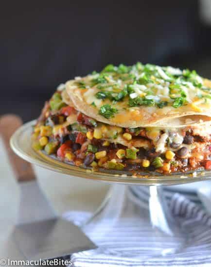 Enchiladas Bean Torte