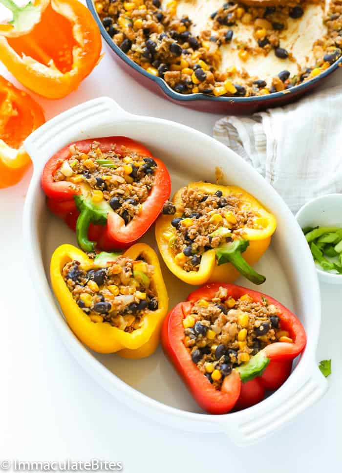 Quinoa Stuffed Bell Peppers Immaculate Bites