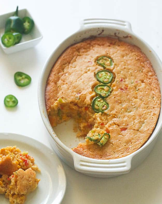 Jalapeños corn casserole