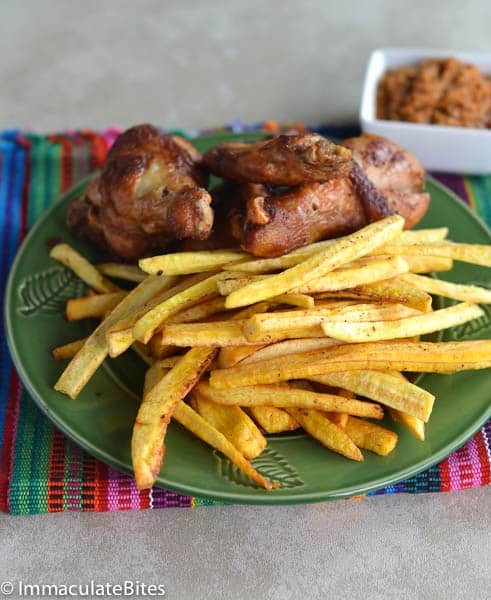 African Fried Chicken and Fries