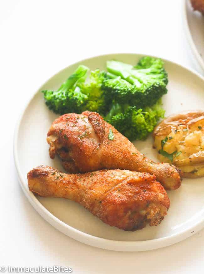 Baked Crispy Chicken Legs Immaculate Bites