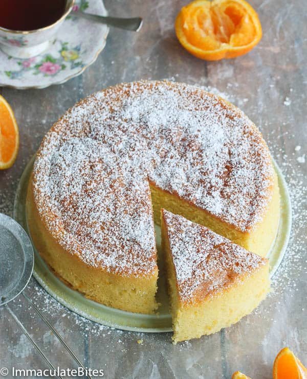 Orange Almond Butter Cake - Immaculate Bites