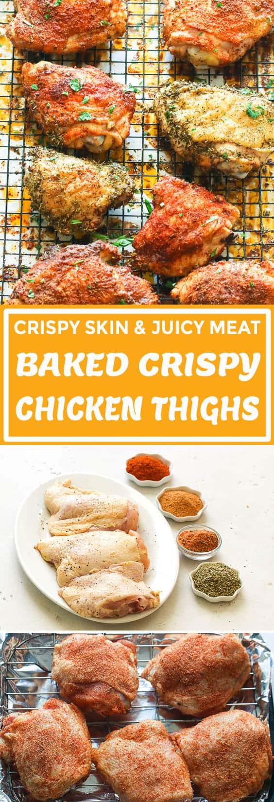Baked Crispy Chicken Thighs