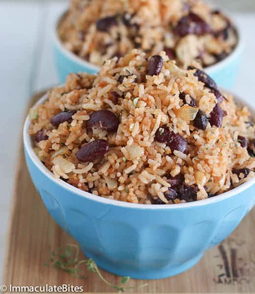 Caribbean rice and beans recipe chicken