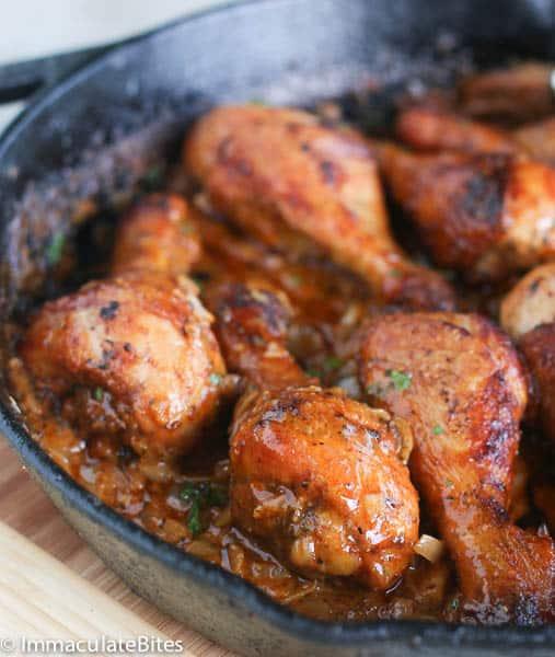 Cream and spicy chicken legs