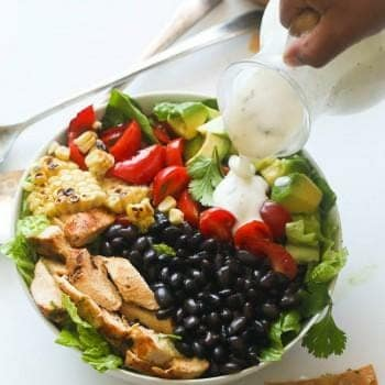 South West Chicken Salad & Ranch Dressing (Low fat)