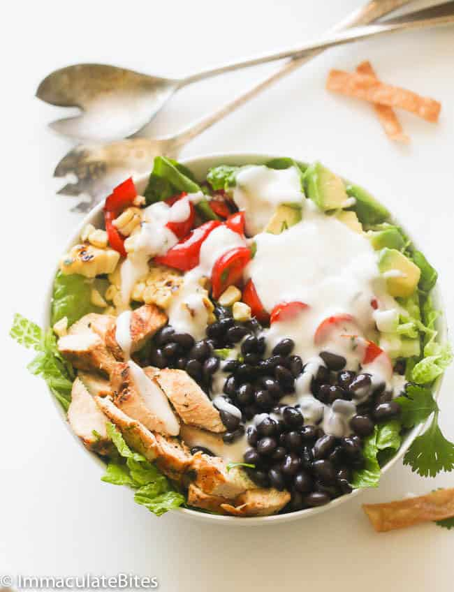 Southwest Chicken Salad with Ranch Dressing