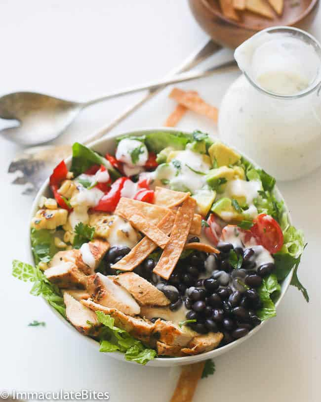 South West Chicken Salad & Ranch Dressing low calorie