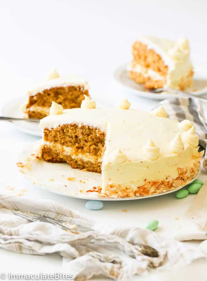 Carrot Pineapple Cake - Immaculate Bites