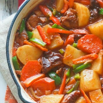 Hot Pot Potatoes(African Stewed Potatoes)