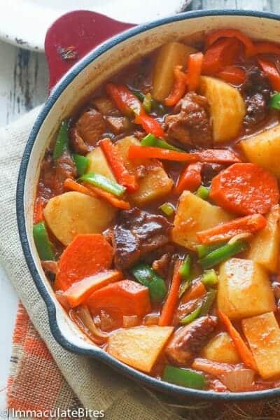 Hot Pot Potatoes(African Stewed Potatoes)