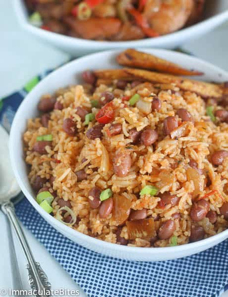 African rice and beans