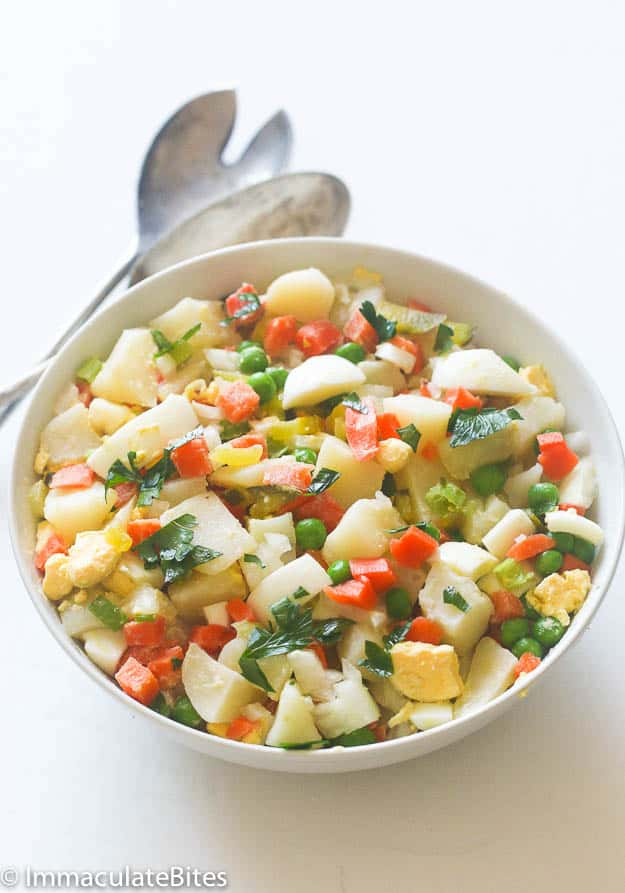 Caribbean potato salad