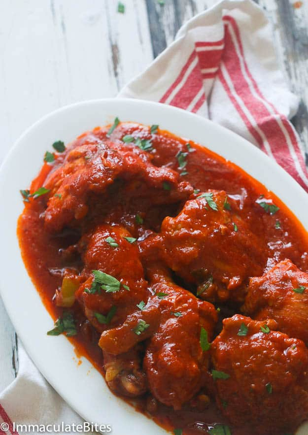 African Chicken Stew and Coconut rice