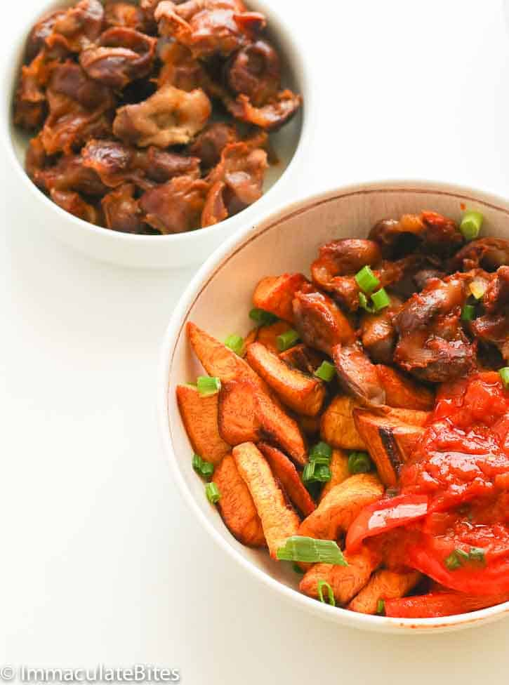 Gizdodo gizzards and plantains immaculate bites make sure the plantains are really ripe so it does not toughen up when baked in my humble opinion this dish is best served immediately after cooking ccuart Choice Image