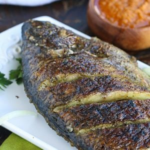 Grilled Tilapia with hot pepper dipping sauce