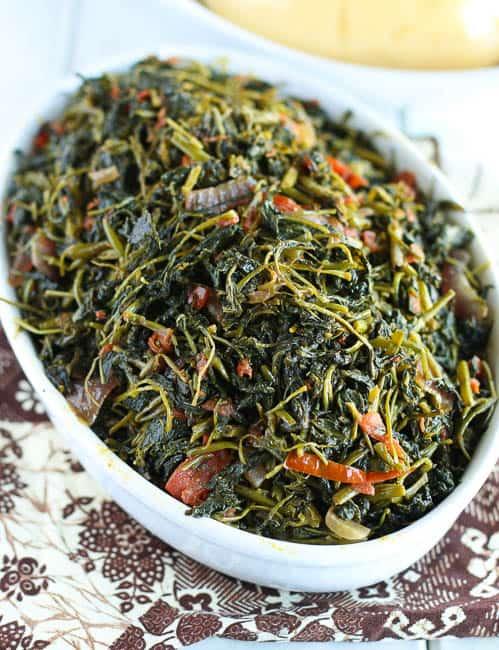 Fufu Corn and Njama Njama