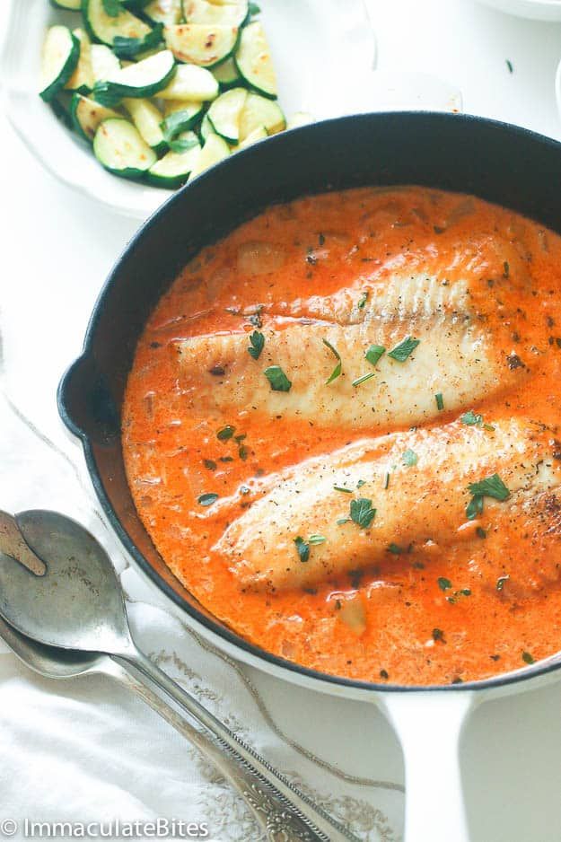 Fish in creamy sauce