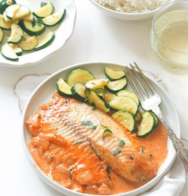 Red Snapper with Zucchini