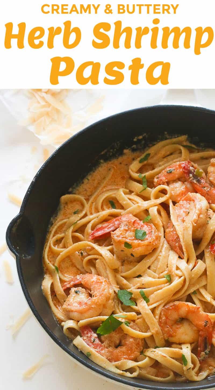 Creamy Herb Shrimp Pasta Recipe
