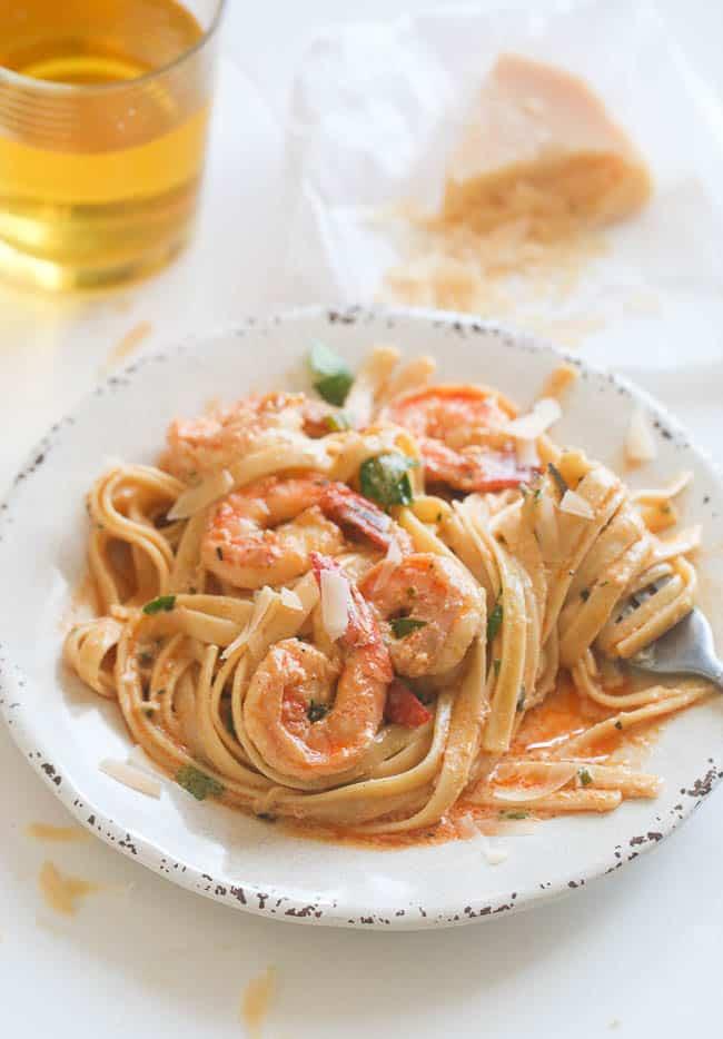 Creamy Herb shrimp Pasta
