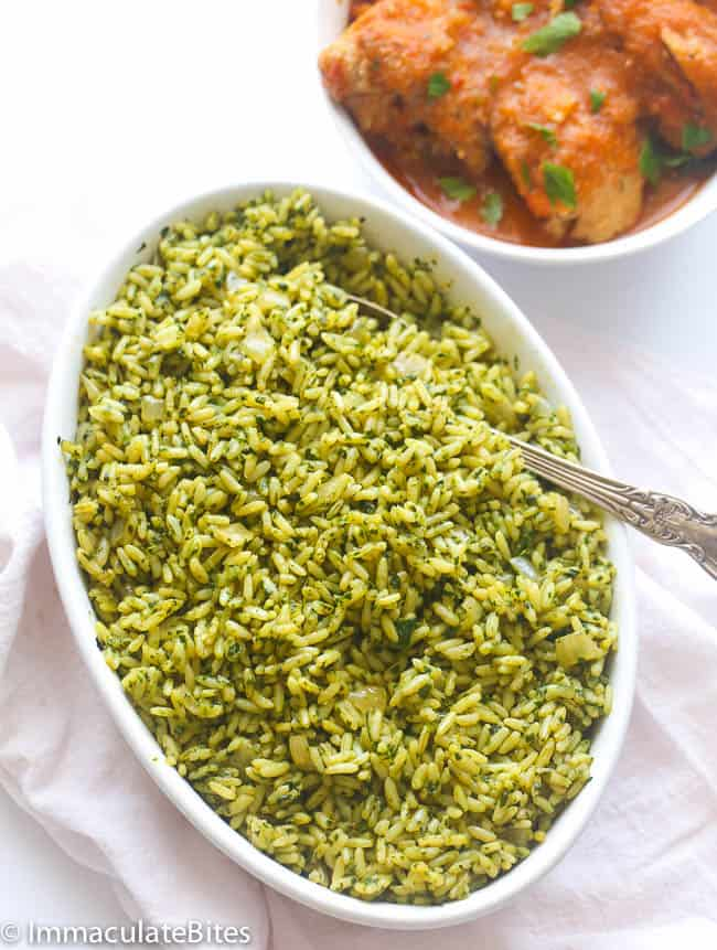 Brown Spinach rice