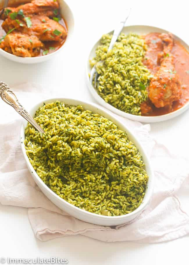 African rice recipes immaculate bites spinach brown rice forumfinder Image collections