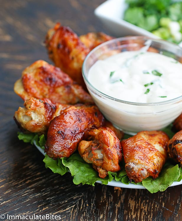 chicken wing shawarma