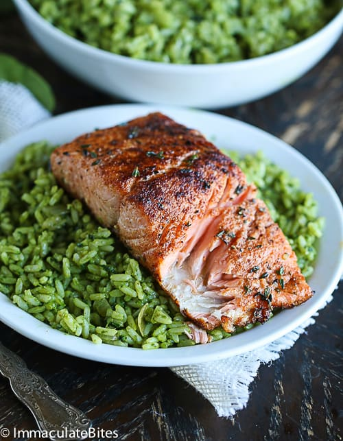 Pan Seared Salmon With Spice Rub
