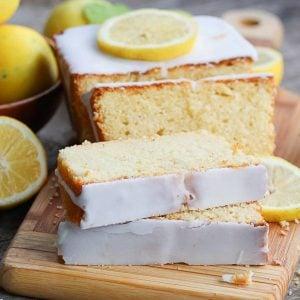 Sliced Lemon Yogurt Cake
