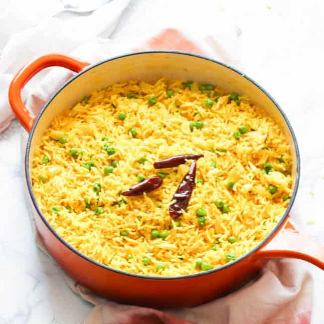 Yellow Rice with cayenne