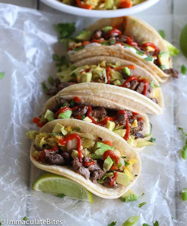 Korean Tacos and Quick Kimchi
