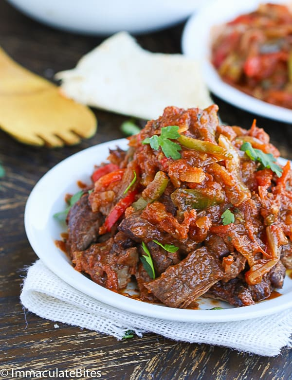 Ropa Vieja Slow Cooker- A Cuban favorite shredded beef that you can ...