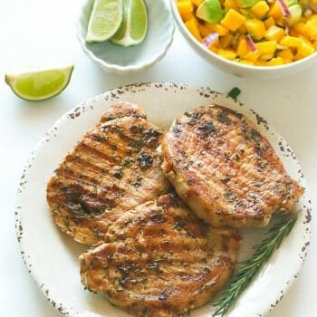 Marinated Pork Chop with Rosemary and garlic