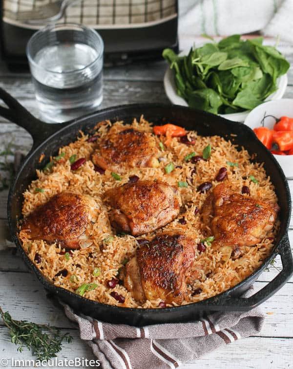 One Pot Caribbean Jerk Chicken & Rice