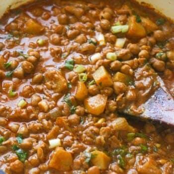Curry Channa and Aloo