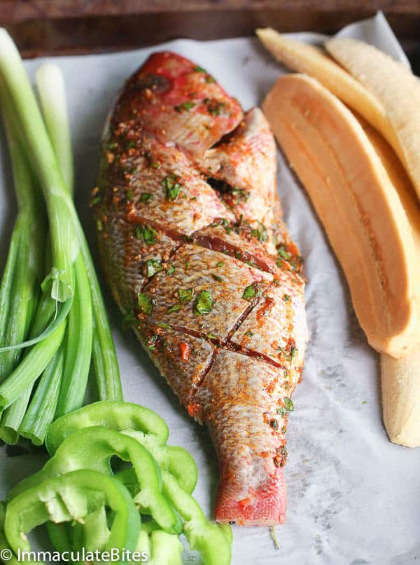Caribbean Grill Whole Red Snapper