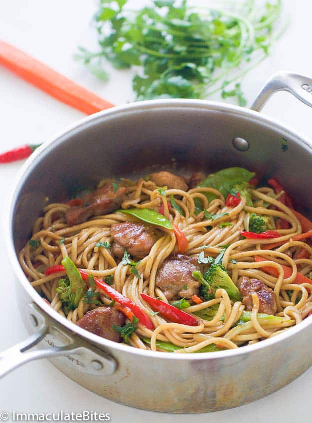 Caribbean -Style Chow Mein
