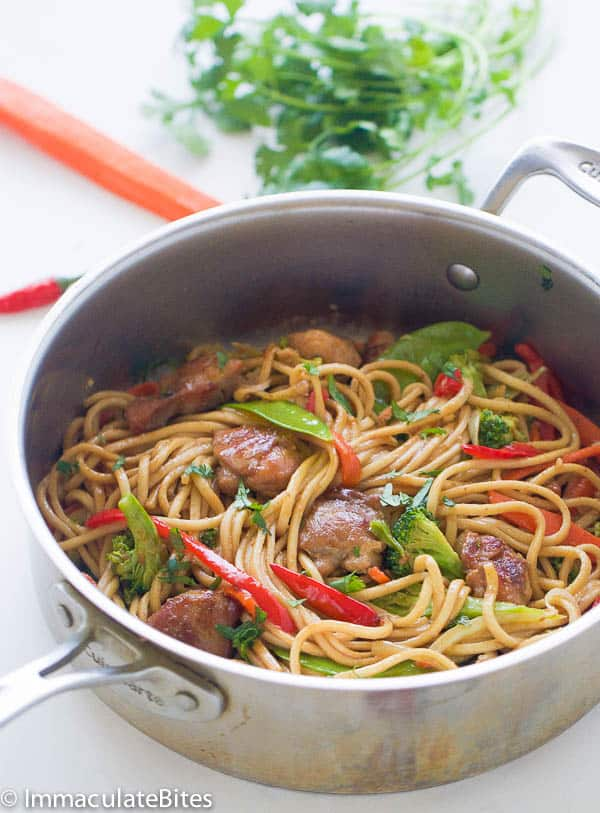 Chow Mein Caribbean Style