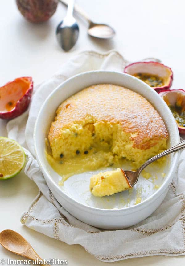 Passion fruit pudding cake