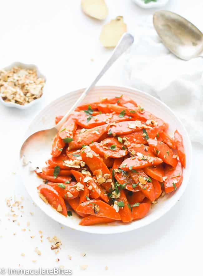 Pineapple Ginger-Glazed Carrots